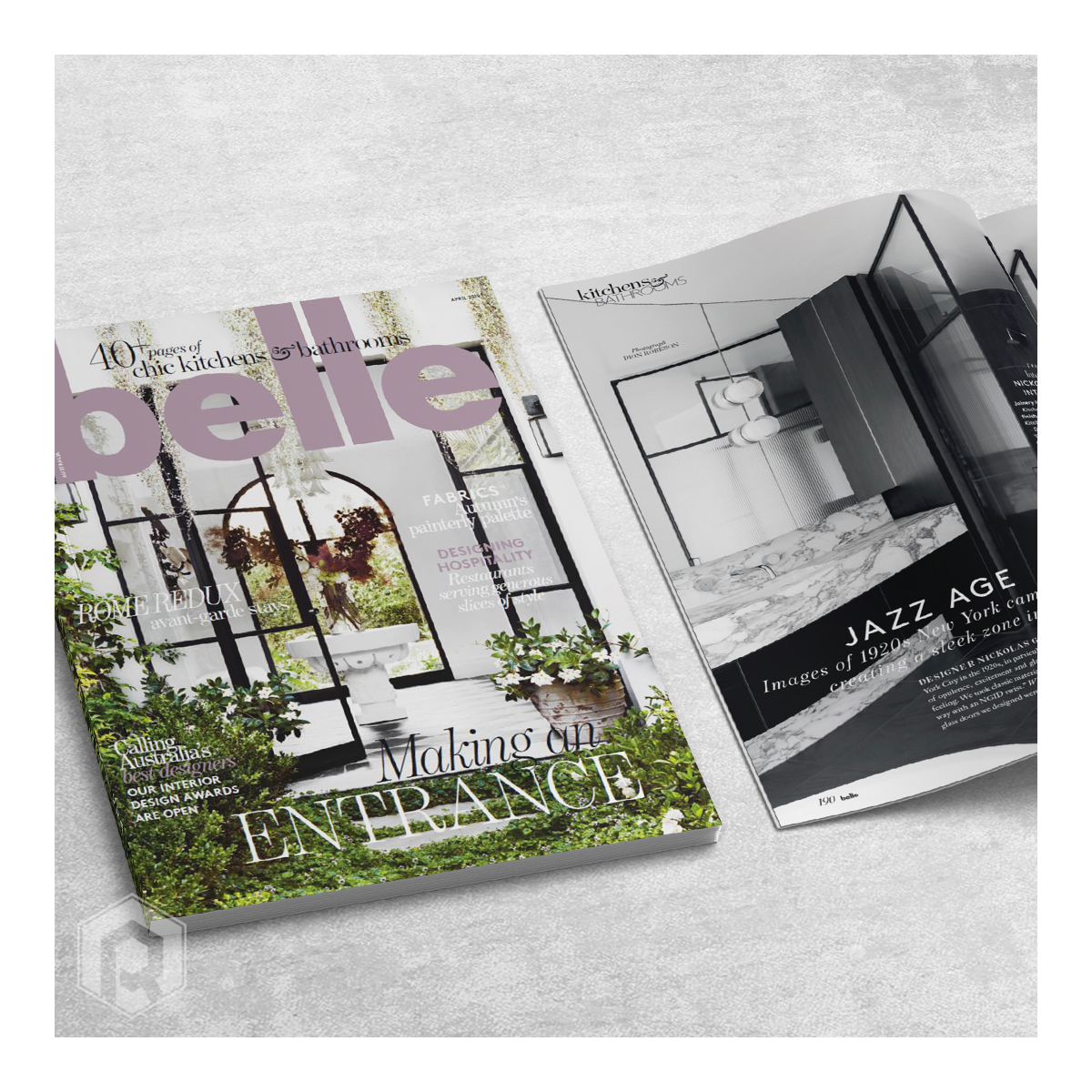 Featured in Belle Magazine - Reliance Design & Fabrication